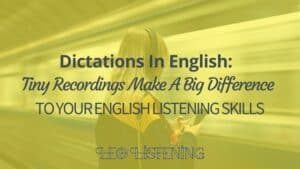 dictations in English