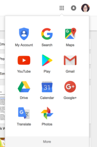 Google apps menu