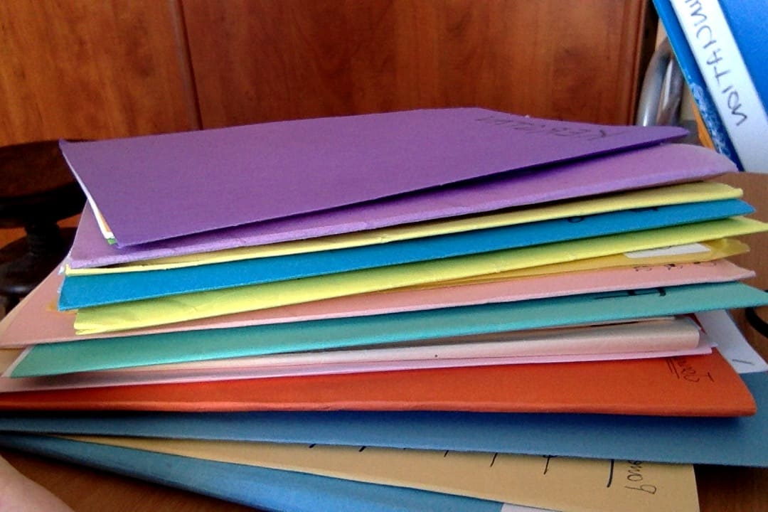 Folders for transcripts to improve your listening skills