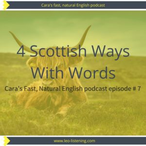 4 Scottish Ways With Words