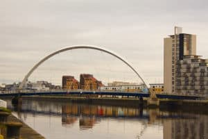 Side view of the Clyde Arc