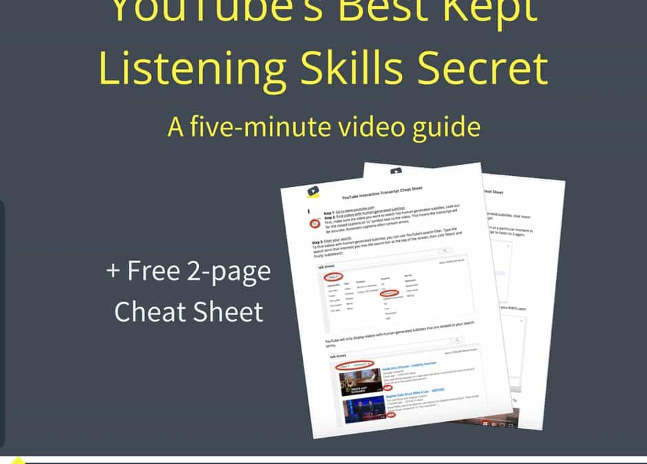 A 5-minute guide to YouTube's best kept listening skill secret