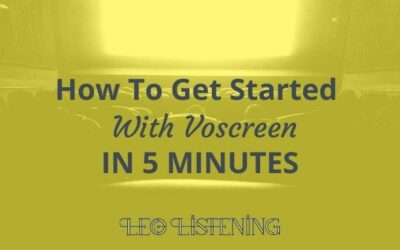 How To Get Started With Voscreen In 5 Minutes