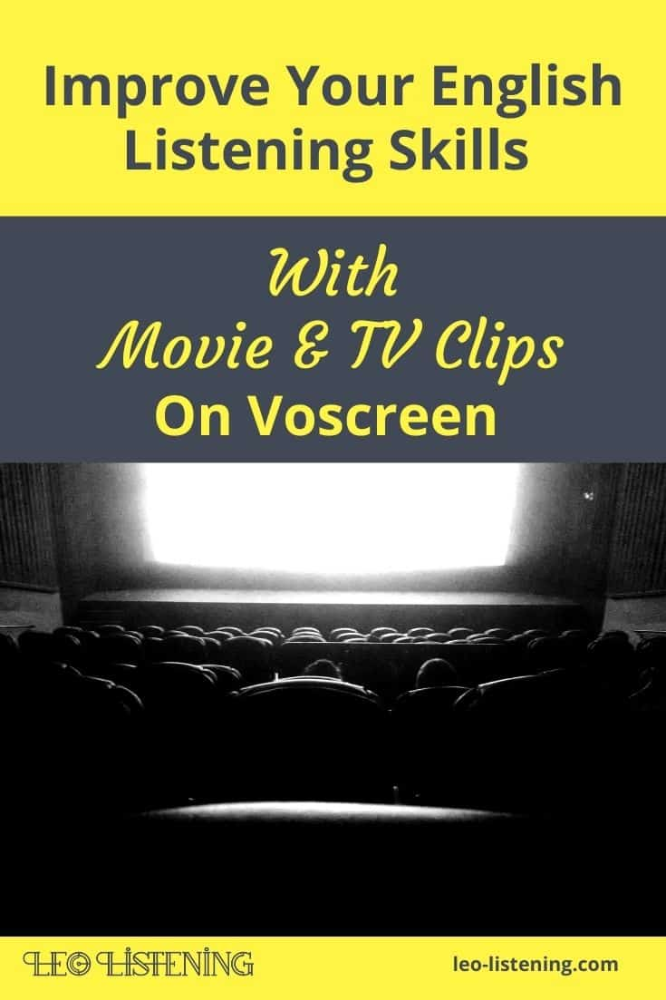 improve your English listening skills with movie and TV clips on voscreen