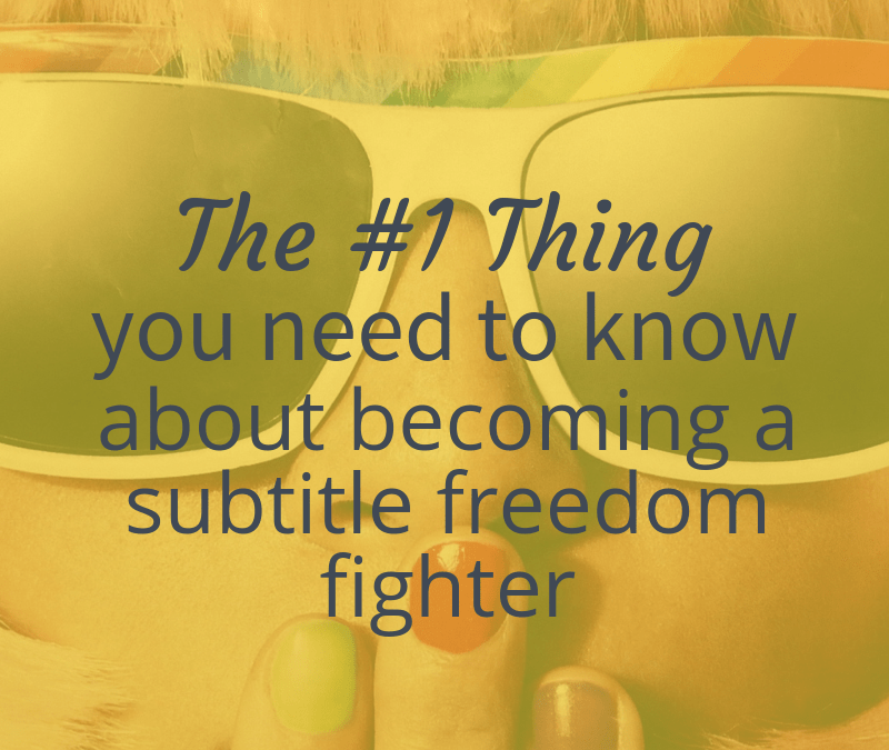 the #1 thing you need to know about becoming a subtitle freedom fighter