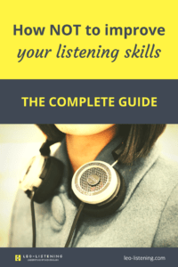 Pin for how not to improve your listening skills: the complete guide