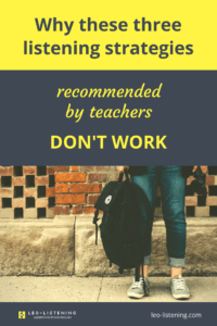 Pin for why these three listening strategies recommended by teachers don't work