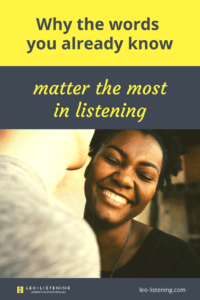 Pin for Why the words you already know matter the most in listening